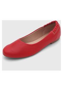 Sapatilha Fiveblu Elástico Vermelha