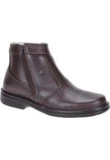 Bota Couro Urbana Boots Masculino - Masculino-Marrom