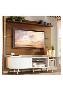 Rack Madesa Dubai E Painel Para Tv Até 65 Polegadas Com Pés Branco/Rustic 096E Branco