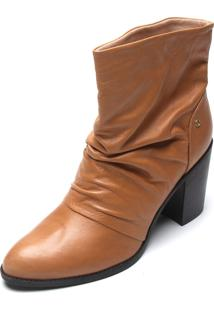 Bota Couro Dumond Slouch Caramelo