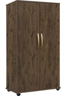 Armário Multiuso Com 2 Portas E 3 Prateleiras Nara-Móveis Primus - Amêndoa Wood