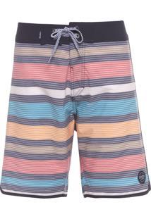 Short Masculino Surf Listra Multicolors - Preto