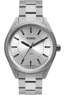 Relógio Euro Strong Woman Spikes Feminino - Feminino-Prata