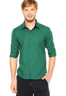 Camisa Ellus Contraste Verde