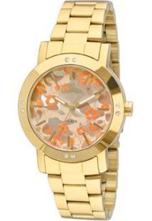 Relógio Allora Feminino Camoflower Al2036Ffq/4D - Al2036Ffq/4D - Feminino-Dourado