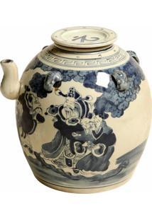 Vaso Decorativo De Porcelana Chinesa Com Tampa Woolf