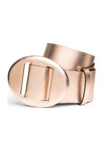Cinto Cintura Medio Com Brilho Rosa