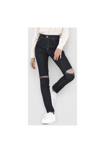 Calça Jeans Bobstore Skinny Jully Azul-Marinho