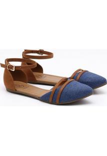 Sapatilha Bebecê Jeans Azul