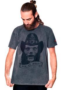 Camiseta Estonada Skull Lemmy Liverpool Preto