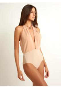 Body Le Lis Blanc Gabriela Brilho Nude Feminino (Skin, 34)