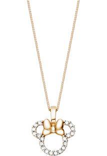 Pingente Minnie Ouro Rosã© E Diamantes