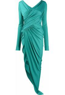 Alexandre Vauthier Vestido Envelope Assimétrico - Verde