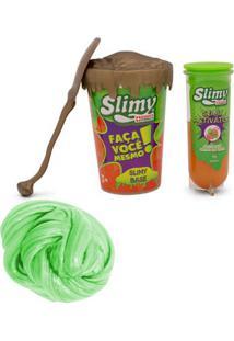 Kit De Acessórios - Faça Seu Slimy - Série Ouro E Geleca Slimy Metalizado - Verde - Toyng