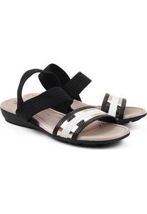 Sandália Modare Bicolor Feminina - Feminino-Preto