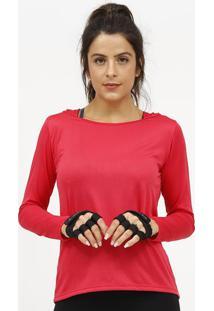 Blusa Lisa Com Microfuros- Vermelha- Patrapatra
