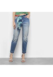 Calça Jeans Morena Rosa Lenço Feminina - Feminino-Azul