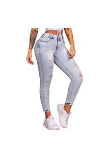 Calça Feminina Pit Bull Jeans 38007 Pitbull Clara