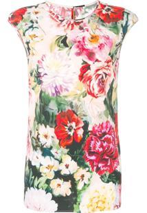 Dolce & Gabbana Blusa Floral - Vermelho