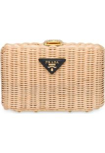 Prada Clutch Wicker - Neutro