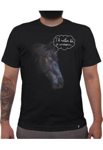 Id Rather Be A Unicorn - Camiseta Clássica Masculina