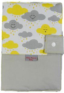 Capa Para Cartão De Vacinação - Alan Pierre Baby - Nuvem Amarela Nova