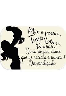 Tapete Love Decor Wevans Mãe É Poesia, Tons, Letras... Off White