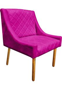 Poltrona Decorativa Paris Suede Pink - D'Rossi