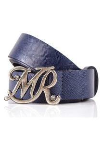Cinto Cintura/Quadril Reto Letreiro Mr Azul