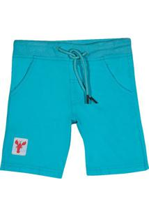 Bermuda Com Tag- Azul & Off Whitetip Top