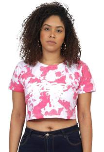 Camiseta Kings Sneakers Cropped Tie Dye Vermelho - Kanui