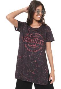 Camiseta Redley Liberty Floral Preta