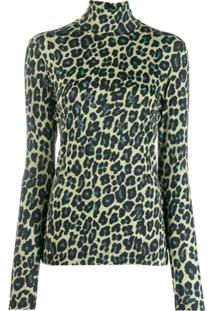 Paul Smith Suéter Animal Print - Amarelo