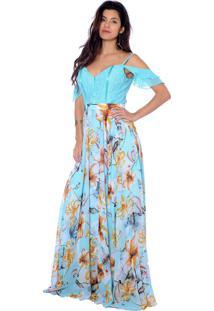 Vestido Gowara Festa Azul Tiffany