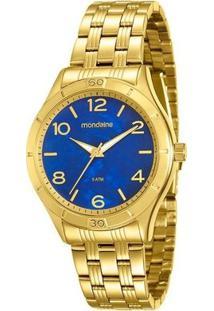 Relógio Mondaine Feminino - 94929Lpmvde1 - Feminino-Dourado