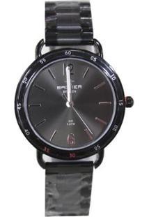 Relógio Feminino Backer Analógico 3631113F - Unissex-Preto