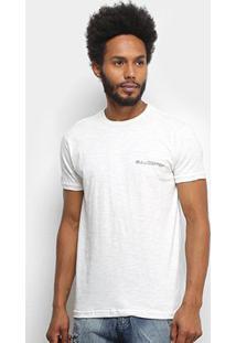 Camiseta Bulldog Fish Flamê Básica Signature Masculina - Masculino-Off White