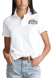 Camisa Polo Polo Ralph Lauren Reta Branca