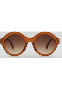 R  39,90. CEA Óculos De Sol Redondo Feminino Oneself Marrom - Único 49b209273c