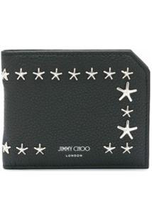 Jimmy Choo Carteira Com Tachas E Estrelas - Preto