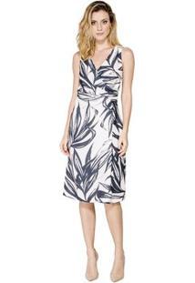 0e55c241f R$ 763,00. Zattini Vestido Regata Decote Cache Coeur Alphorria - Feminino-Off  White