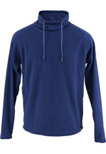 Casaco Fleece Térmico Fiero Gola Alta Michigan Thermo Fleece Lite Azul Marinho