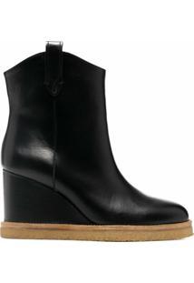 Ba&Sh Ankle Boot Plataforma Cristina - Vermelho