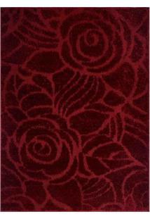 Tapete Jazz Floral- Vermelho- 150X100Cm- Oasisoasis