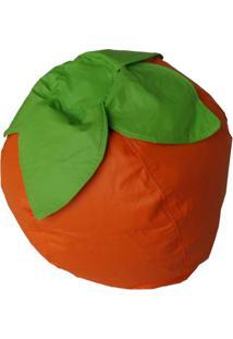 Puff Infantil Frutinha Corino Laranja