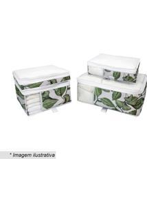 Kit De Organizadores Para Enxoval- Verde & Branco- 4Boxmania