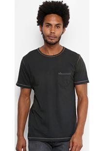 Camiseta Redley Gola Careca Estonada Linha Contraste 118124 - Masculino