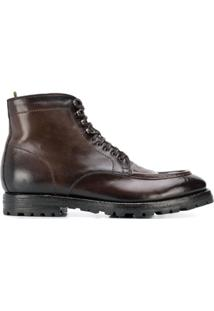 Officine Creative Ankle Lace-Up Boots - Marrom