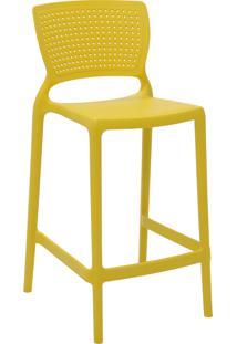 Cadeira Alta Tramontina 92128000 Safira Polipropileno Fibra De Vidro Amarela