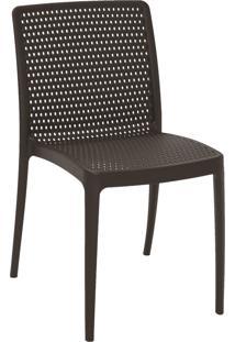 Cadeira Tramontina 92150109 Isabelle Polipropileno E Fibra De Vidro Marrom
